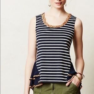 Anthropologie Postmark Striped Tank S EUC